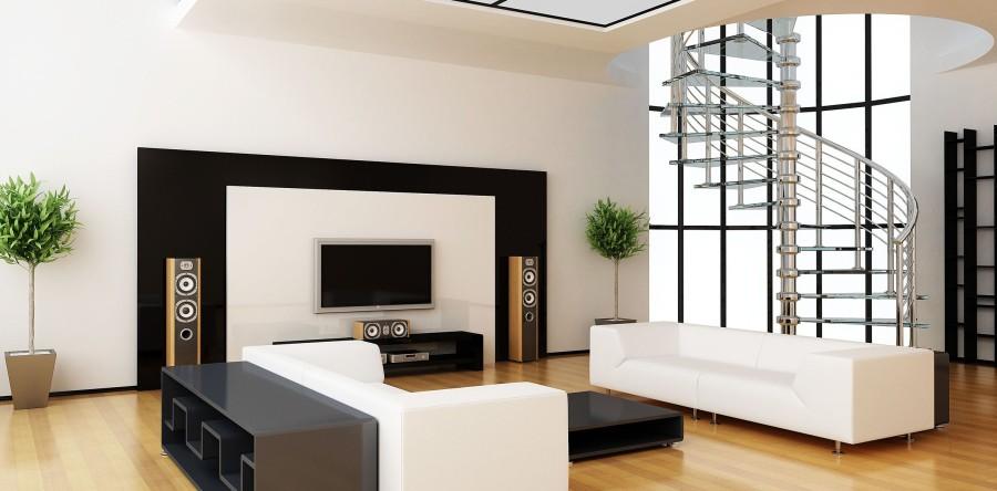 שילוב בין פרקטים לבטון אדריכלי לקירות בעיצוב הבית